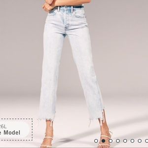 Abercrombie High Rise Vintage Straight Jeans